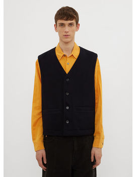 Reversible Story Vest In Navy by Our Legacy
