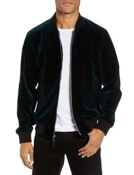 Slim Fit Velvet Bomber Jacket by Bonobos