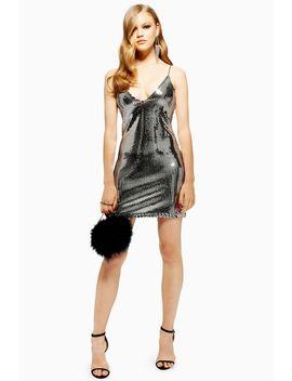 Silver Foil Sequin Mini Dress by Topshop