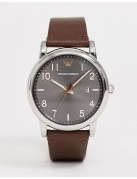 Emporio Armani Ar11175 Luigi Leather Mechanical Watch 43mm by Emporio Armani