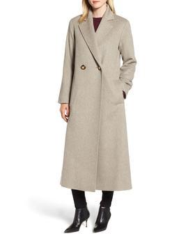 Long Double Breasted Loro Piana Wool Coat by Fleurette