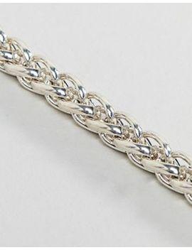 Wftw Wheat Link Bracelet In Silver by Wftw