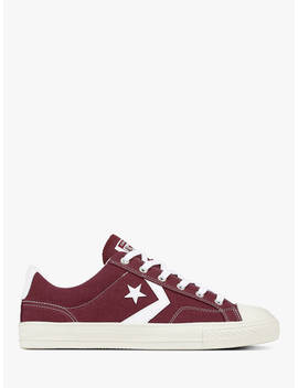 Converse Star Player Canvas Trainers, Dark Burgundy/White by Converse