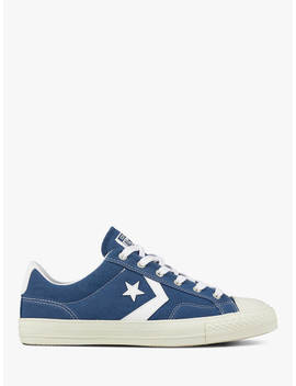 Converse Star Player Canvas Trainers, Mason Blue/White by Converse