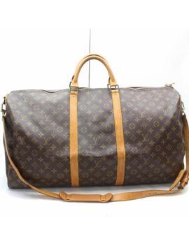 Authentic Louis Vuitton Boston Bag Keepall Bandouliere 60 M41412 325864 by Louis Vuitton