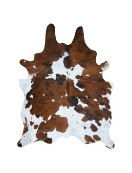 Real Cowhide Rug Tricolor & White by Generic