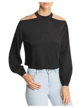 Shoulder Cutout Cropped Blouse by Marled X Olivia Culpo