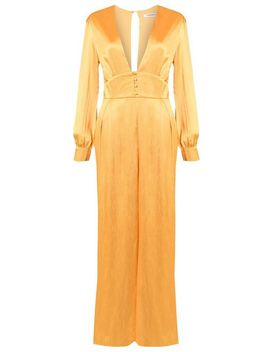 **Satin Button Front Jumpsuit By Glamorous by Topshop