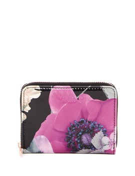 Lilibe Neon Poppy Floral Printed Zipped Mini Purse by Ted Baker London