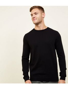 Black Crew Neck Jumper by New Look