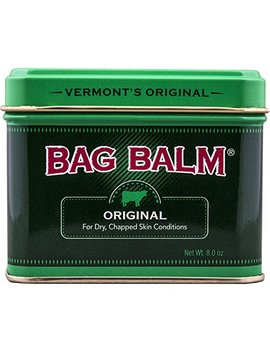 Vermont's Original Bag Balm Animal Ointment, 8 Ounce Tin, For Dry Chapped Skin Conditions Lanolin Based Helps Keep Skin Smooth And Soft by Bag Balm