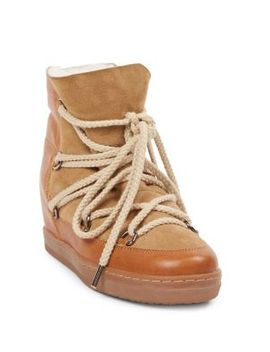 Nowles Shearling Snow Booties by Isabel Marant