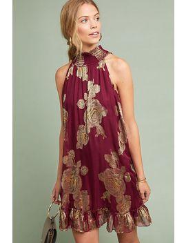 Metallic Rose Dress by Hemant & Nandita