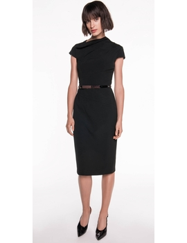 Draped Neck Pencil Dress by Cue