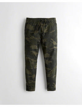 Advanced Stretch Twill Skinny Jogger Pants by Hollister