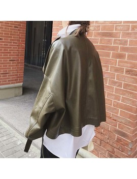 Kuthe Long Sleeves Leather Biker Jacket by Jessica Buurman