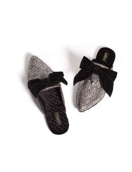 Tweed Slippers by Kurt Geiger London