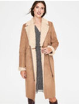 Faux Shearling Coat by Boden