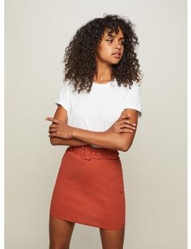 Rust Belted Skirt by Miss Selfridge