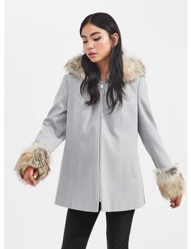 Petite Grey Duffle Coat by Miss Selfridge