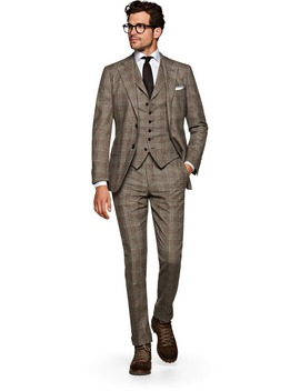Jort Brown Check Suit by Suitsupply