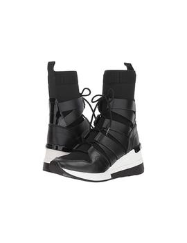 Michael Kors Beckett Stretch Knit And Leather High Top Trainer           Great Shoes by Bonanza