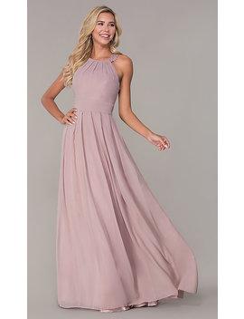 Lace Strap Chiffon Long Prom Dress By Elizabeth K by Elizabeth K