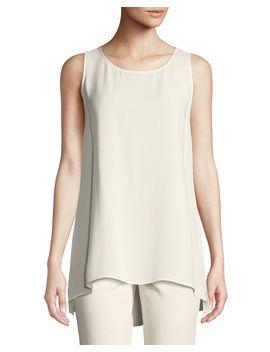 ruthie-sleeveless-high-low-hem-silk-blouse by lafayette-148-new-york