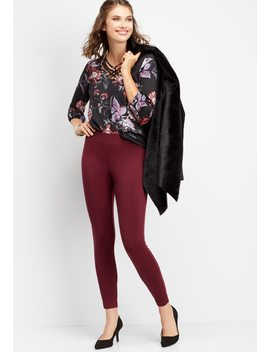 Wine Colored Ponte Legging by Maurices