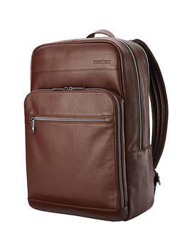 Leather Slim Laptop Backpack by Samsonite