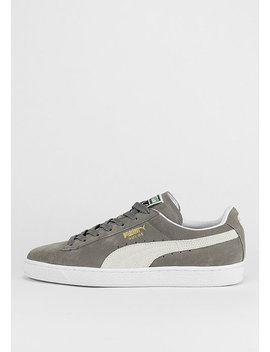 Schuh Suede Classic Steeple Gray/White by Puma