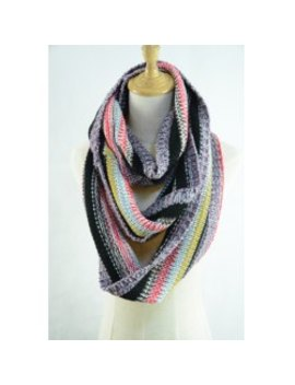 Chic Multifunctional Colorful Loop Knitted Scarf For Women by Twinkle Deals