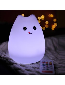 Usb Rechargeable Cartoon Led Colorful Remote Control Night Light by Twinkle Deals