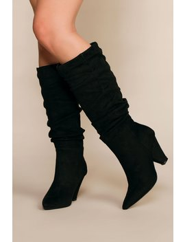 Cassie Pointy Toe Slouchy Boots by Priceless
