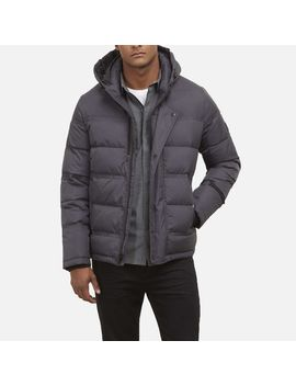Weather Proof Nylon Puffer With Hood by Kenneth Cole New York
