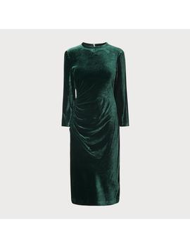 Izzy Green Velvet Dress by L.K.Bennett