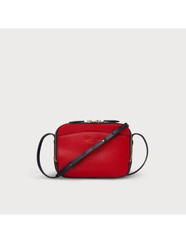 Mariel Red Blue Leather Shoulder Bag by L.K.Bennett