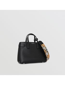The Small Banner In Grainy Leather by Burberry