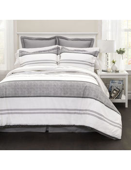 Hena Stripe Blue 6 Pc F/Q by At Home