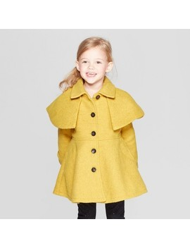 Toddler Girls' Capelet Trench Coat   Genuine Kids® From Osh Kosh Yellow by Genuine Kids From Osh Kosh