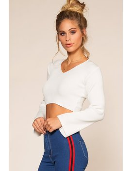 Thea Crop Top   Ivory by Priceless