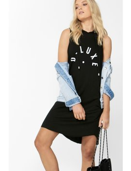 Luxe Logo Hooded Dress by Decjuba