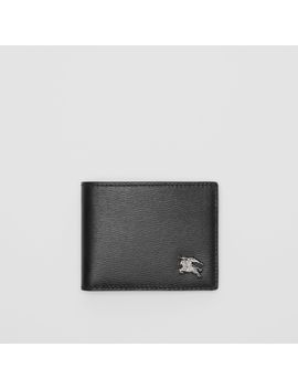 London Leather Bifold Wallet by Burberry
