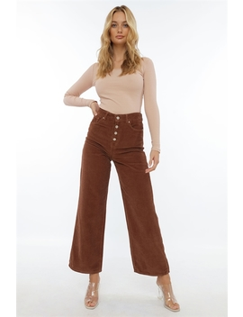 Button Up Corduroy Pants by Chiquelle