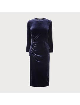 Izzy Navy Velvet Dress by L.K.Bennett