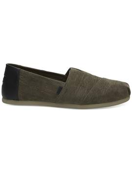 Tarmac Olive Micro Corduroy Men's Classics by Toms