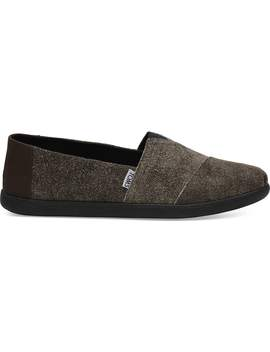 Chocolate Brown Suede Men's Classics Alpargata by Toms