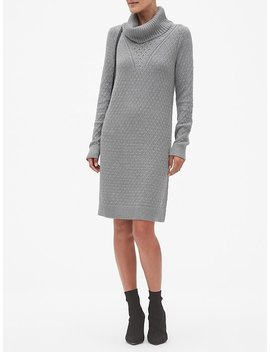 Honeycomb Cowl Neck Sweater Dress by Banana Republic Factory