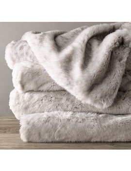Luxe Faux Fur Oversized Bed Throw by Restoration Hardware