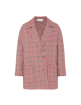 Houndstooth Cocoon Coat by Red Valentino